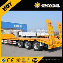 High Quality CIMC 70T Low Bed Flatbed Semi Trailers For Sale